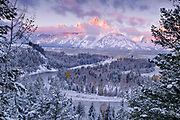 Clearing Winter Storm at Sunrise over the Snake River, Grand Teton National Park, Wyoming