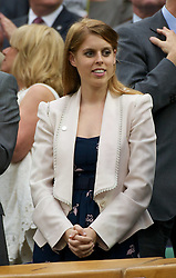 28.06.2011, Wimbledon, London, GBR, WTA Tour, Wimbledon Tennis Championships, im Bild Beatrice Elizabeth Mary Windsor, Princess Beatrice of York, watches from the Royal Box on Centre Court during the Ladies' Singles Quarter-Final on day eight of the Wimbledon Lawn Tennis Championships at the All England Lawn Tennis and Croquet Club. EXPA Pictures © 2011, PhotoCredit: EXPA/ Propaganda/ David Rawcliffe +++++ ATTENTION - OUT OF ENGLAND/UK +++++ // SPORTIDA PHOTO AGENCY