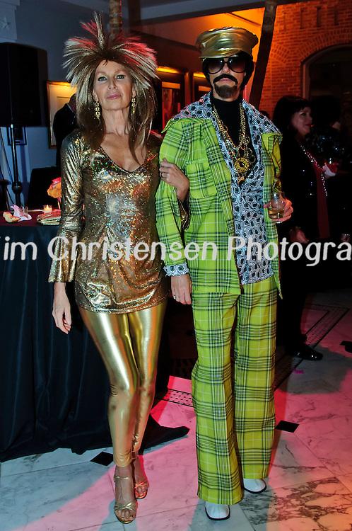 "Brenda Mitchell and Janice Hurst both of Austin enjoy The Tremont House Mardi Gras celebrate ""The Golden Era of Motown"" ball."