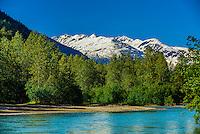 Taiya River, Dyea, Skagway, Inside Passage, southeast Alaska USA.