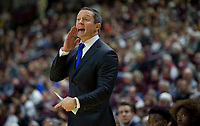 Florida head coach Mike White calls out to his players during the first half of an NCAA college basketball game against Texas A&M Tuesday, Jan. 2, 2018, in College Station, Texas. (AP Photo/Sam Craft)