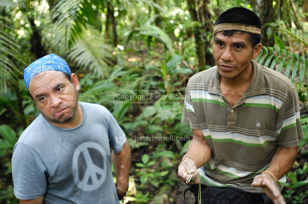 Ecuador, May 6 2010: Jorge and Ninke Re. Copyright 2010 Peter Horrell