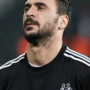 Besiktas's Hugo Almedia during their Turkish superleague soccer match Besiktas between Bursaspor at BJK Inonu Stadium in Istanbul Turkey on Sunday, 15 January 2012. Photo by TURKPIX