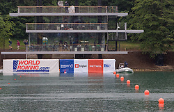 Tower during finals of Rowing World Cup  on May 30, 2010, at Bled's lake, Bled, Slovenia. (Photo by Vid Ponikvar / Sportida)