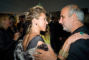 MAIA NORMAN; ALAN YENTOB, Damien Hirst party to preview his exhibition at Sotheby's. New Bond St. London. 12 September 2008 *** Local Caption *** -DO NOT ARCHIVE-© Copyright Photograph by Dafydd Jones. 248 Clapham Rd. London SW9 0PZ. Tel 0207 820 0771. www.dafjones.com.