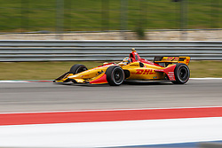 March 23, 2019 - Austin, TX, U.S. - AUSTIN, TX - MARCH 23: Ryan Hunter-Reay (28) in the DHL, Honda powered Dallara IR-18 at turn 19 during Practice 3 at the IndyCar Classic held March 22-24, 2019 at the Circuit of the Americas in Austin, TX. (Photo by Allan Hamilton/Icon Sportswire) (Credit Image: © Allan Hamilton/Icon SMI via ZUMA Press)