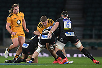Rugby Union - 2019 / 2020 Gallagher Premiership - Final - Wasps vs Exeter Chiefs - Twickenham<br /> <br /> Wasps' Jack Willis is tackled by Exeter Chiefs' Sam Simmonds.<br /> <br /> COLORSPORT/ASHLEY WESTERN