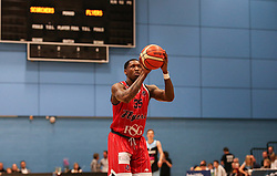 Fred Thomas of Bristol Flyers with a free throw - Photo mandatory by-line: Arron Gent/JMP - 28/04/2019 - BASKETBALL - Surrey Sports Park - Guildford, England - Surrey Scorchers v Bristol Flyers - British Basketball League Championship