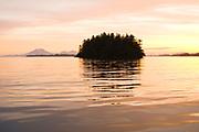 Sunset, Pacific Ocean, near Sitka, Alaska