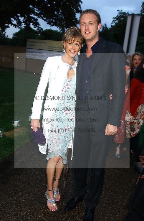 LADY ALEXANDRA SPENCER-CHURCHIL and her brother LORD EDWARD SPENCER-CHURCHILL at the annual Serpentine Gallery Summer Party co-hosted by Jimmy Choo shoes held at the Serpentine Gallery, Kensington Gardens, London on 30th June 2005.<br />