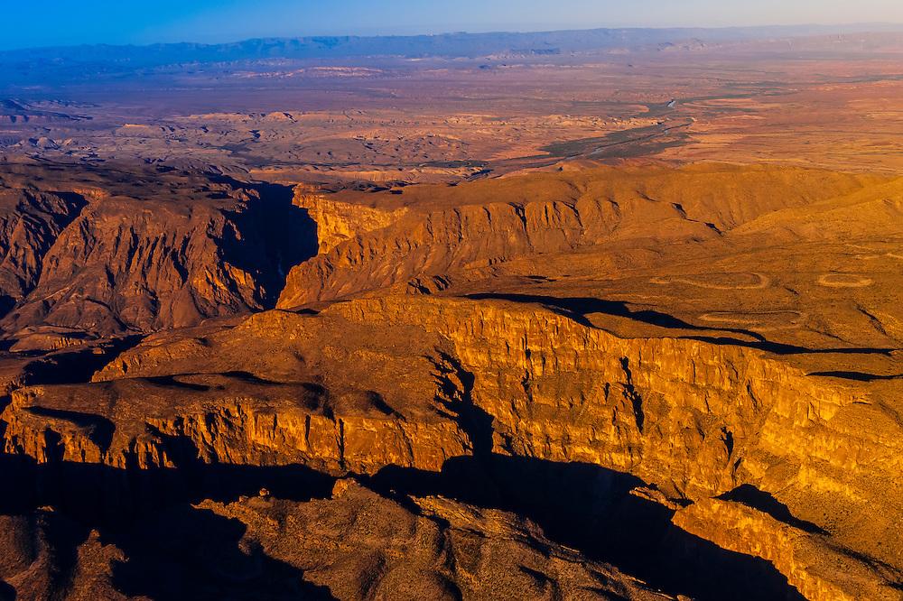 Aerial view, Big Bend National Park, Texas USA.