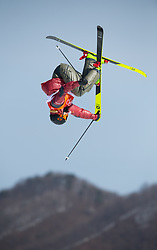 February 18, 2018 - Pyeongchang, South Korea - ALEX BEAULIEU-MARCHAND of Canada was the third highest qualifier from Mens Ski Slopestyle qualifications Sunday, February 18, 2018 at Phoenix Snow Park at the Pyeongchang Winter Olympic Games.  Photo by Mark Reis, ZUMA Press/The Gazette (Credit Image: © Mark Reis via ZUMA Wire)