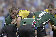 Photo Peter Spurrier<br /> 29/09/02   ZURICH PREMIERSHIP RUGBY<br /> London Irish vs Wasps<br /> Simon Shaw reaching over in the Maul,  Madejski Stadium, Reading Berkshire, [Mandatory Credit: Peter Spurrier/Intersport Images]