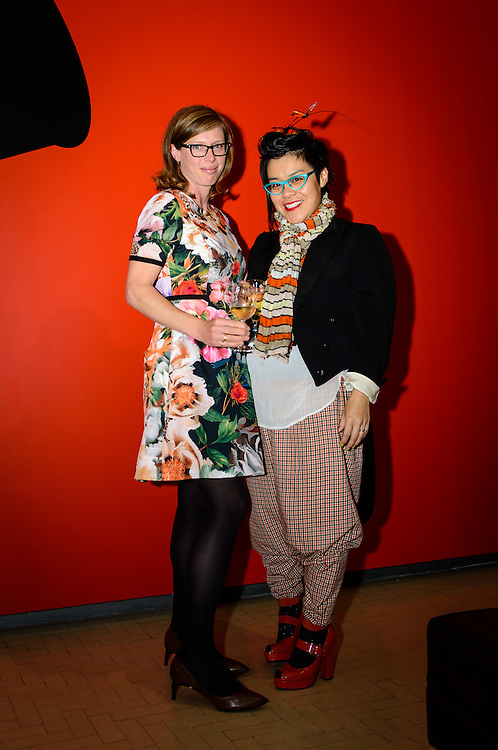 Gwen Isaac and Irene Cheung. WELLINGTON, NEW ZEALAND - November 06: City Gallery Tuatara Open Late: Advanced Style judged by Kate Bryant (Ziggurat) and Chrissy O (Hunters and Collectors): November 06, 2014 in Wellington, New Zealand.  City Gallery Open Late Advanced Style.  (Photo by Mark Tantrum/ mark tantrum.com)