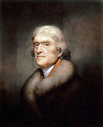 Rembrandt Peale (artist) Painting of Thomas Jefferson (1805)