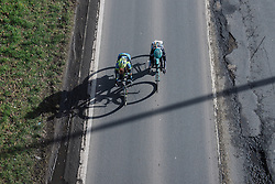 Early attempt to breakaway from above - Le Samyn des Dames 2016, a 113km road race from Quaregnon to Dour, on March 2, 2016 in Hainaut, Belgium.