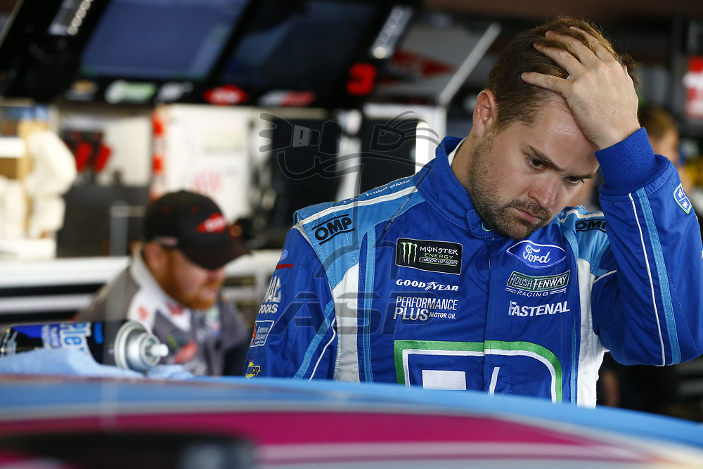 October 28, 2017 - Martinsville, Virginia, USA: Ricky Stenhouse Jr (17) hangs out in the garage during practice for the First Data 500 at Martinsville Speedway in Martinsville, Virginia.