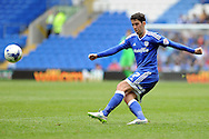 Cardiff City's Peter Whittingham in action. Skybet football league championship match, Cardiff city v Birmingham city at the Cardiff city stadium in Cardiff, South Wales on Saturday 7th May 2016.<br /> pic by Carl Robertson, Andrew Orchard sports photography.