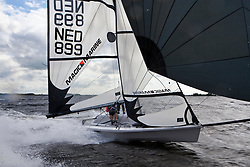 Barend Hiltermann en Max Blom training in the RS500 during a windy day.