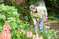 Lady digging her allotment