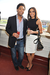 Athlete LOUISE HAZEL and her brother MICHAEL HAZEL at the 2012 Hennessy Gold Cup at Newbury Racecourse, Berkshire on 1st December 2012