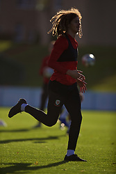 CARDIFF, WALES - Monday, November 12, 2018: Wales' Ethan Ampadu during a training session at the Vale Resort ahead of the UEFA Nations League Group Stage League B Group 4 match between Wales and Denmark. (Pic by David Rawcliffe/Propaganda)