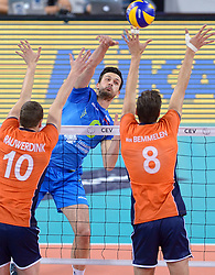 Mitja Gasparini during volleyball match between National teams of Netherlands and Slovenia in Playoff of 2015 CEV Volleyball European Championship - Men, on October 13, 2015 in Arena Armeec, Sofia, Bulgaria. Photo by Ronald Hoogendoorn / Sportida