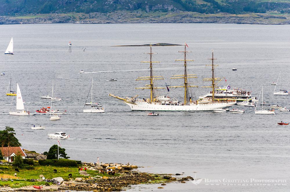 Norway, Randaberg. Tall Ships Race in Stavanger 2011. Goodbye, fare thee well! SS Sørlandet.