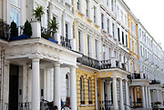 Homes on Elgin Crescent in Notting Hill, West London. Made famous from the movie of the same name.
