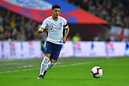 Jadon Sancho of England during the UEFA European 2020 Qualifier match between England and Czech Republic at Wembley Stadium, London, England on 22 March 2019.