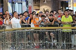 July 19, 2017 - Shenyan, Shenyan, China - Shenyang, CHINA-July 19 2017: (EDITORIAL USE ONLY. CHINA OUT) Basketball player Dwyane Wade interacts with fans during his visit in Shenyang, northeast China's Liaoning Province, July 19th, 2017. (Credit Image: © SIPA Asia via ZUMA Wire)