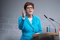30 NOV 2018, BERLIN/GERMANY:<br /> Annegret Kramp-Karrenbauer, CDU Generalsekretaerin, haelt eine Rede, waehrend der Regionalkonferenz der CDU zur Vorstellung der Kandidaten fuer das Amt des Bundesvorsitzenden der CDU, Estrell Convention Center<br /> IMAGE: 20181130-01-032