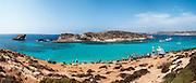 Malta, Holiday makers on a Mediterranean Beach