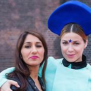 NLD/Amsterdam/20130708- AFW 2013 zomer, modeshow Claes Iversen, Victoria Koblenko en vriendin