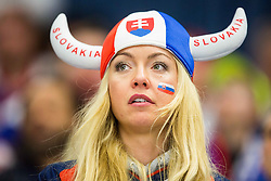 Fan of Slovakia during Ice Hockey match between Slovakia and Slovenia at Day 5 in Group B of 2015 IIHF World Championship, on May 5, 2015 in CEZ Arena, Ostrava, Czech Republic. Photo by Vid Ponikvar / Sportida