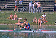 Munich, GERMANY   USA M1X, Jamie KOVEN, 1998 FISA World Cup, Munich Olympic Rowing Course, 29-31 May 1998.  [Mandatory Credit, Peter Spurrier/Intersport-images] 1998 FISA World Cup, Munich, GERMANY
