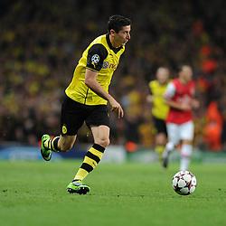 Borrusia Dortmund's Henrik Mkhitaryan - Photo mandatory by-line: Alex James/JMP - Tel: Mobile: 07966 386802 22/10/2013 - SPORT - FOOTBALL - Emirates Stadium - London - Arsenal v Borussia Dortmund - CHAMPIONS LEAGUE - GROUP F