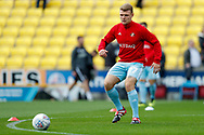 Sunderland midfielder Max Power (27), on loan from Wigan Athletic, warming up  during the EFL Sky Bet League 1 match between Bradford City and Sunderland at the Northern Commercials Stadium, Bradford, England on 6 October 2018.