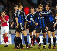 Fotball - Belgia - 05.04.2003<br /> Brugge v RAEC Mons<br /> Bengt Sæternes scoret tre mål for Brugge<br /> Foto: Jimmy Bolcina, Digitalsport