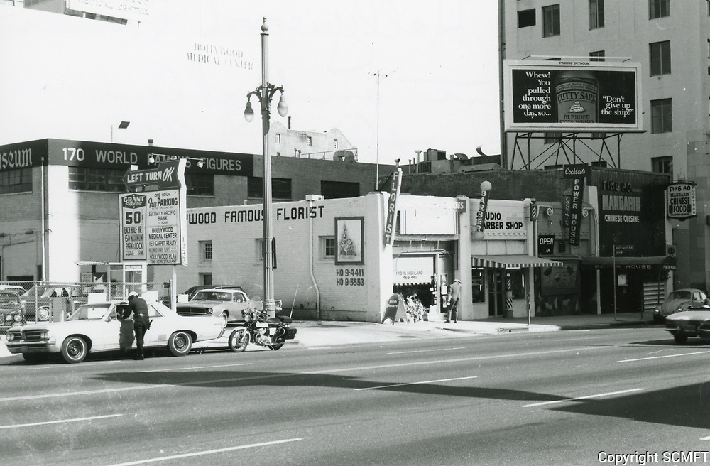 1973 Hollywood Famous Florist on Highland Ave.