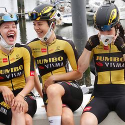 KNOKKE HEIST (BEL) July 10 CYCLING: <br /> 2nd Stage Baloise Belgium tour <br /> Aafke Soet, Jip van den Bos, Anna Henderson
