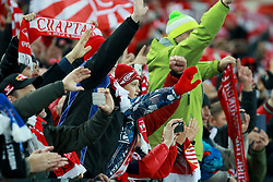October 18, 2017 - Moscow, Russia - October 17, 2017. Russia, Moscow, Otkritie Arena Stadium. Spartak's fans  in the 2017/18 UEFA Champions League's group stage match between Spartak (Moscow, Russia) and Sevilla FC  (Credit Image: © Russian Look via ZUMA Wire)
