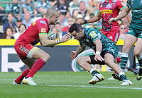 Rugby Union - 2017 / 2018 Aviva Premiership (London Double Header) - London Irish vs. Harlequins<br /> <br /> Mike Brown of Quins and James Marshall of London Irish at Twickenham.<br /> <br /> COLORSPORT/ANDREW COWIE