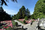 Garten der Villa Alwind am See bei Lindau, Bodensee, Bayern, Deutschland