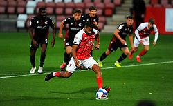 Reuben Reid of Cheltenham Town scores a penalty- Mandatory by-line: Nizaam Jones/JMP - 20/10/2020 - FOOTBALL - Jonny-Rocks Stadium - Cheltenham, England - Cheltenham Town v Scunthorpe United - Sky Bet League Two