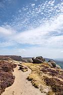 Rocks on the edge of the Kinder Plateau below Hartshorn, Edale