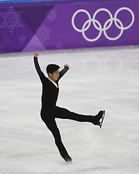 February 17, 2018 - Pyeongchang, KOREA - Nathan Chen of the United States competing in the men's figure skating free skate program during the Pyeongchang 2018 Olympic Winter Games at Gangneung Ice Arena. (Credit Image: © David McIntyre via ZUMA Wire)