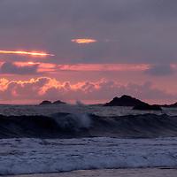 Central America, Costa Rica, Manuel Antonio.  Dramatic surfscape.