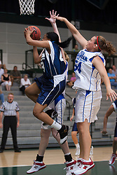 21 June 2008: Zhaque Gray (43) runs past Khassandrae Brown (54) for a lay up. IBCA ( Illinois Coaches Basketball Association) Girls Class 3 & 4 All Star Game held at the Shirk Center on the Campus of Illinois Wesleyan University in Bloomington Illinois