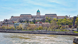 Hungarian National Gallery and Danube river, Budapest, Hungary